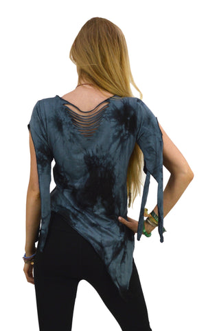 Pixie Pointy Slashed Sleeve Top