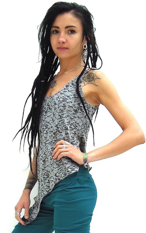Pixie Sleeveless Pointy Vest Top