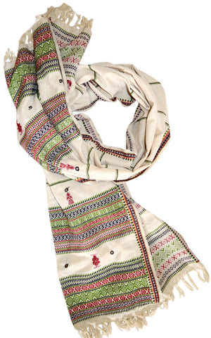 Shawl Tribal Ethnic Hand Embroidered.