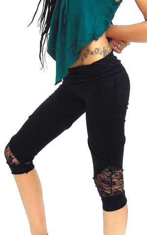 Yoga Capris Leggings Pixie style 3/4