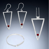 Sterling Silver Long Triangle Trio - Candace -Stribling- Jewelry