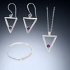 Sterling Silver Short Triangle Trio - Candace -Stribling- Jewelry