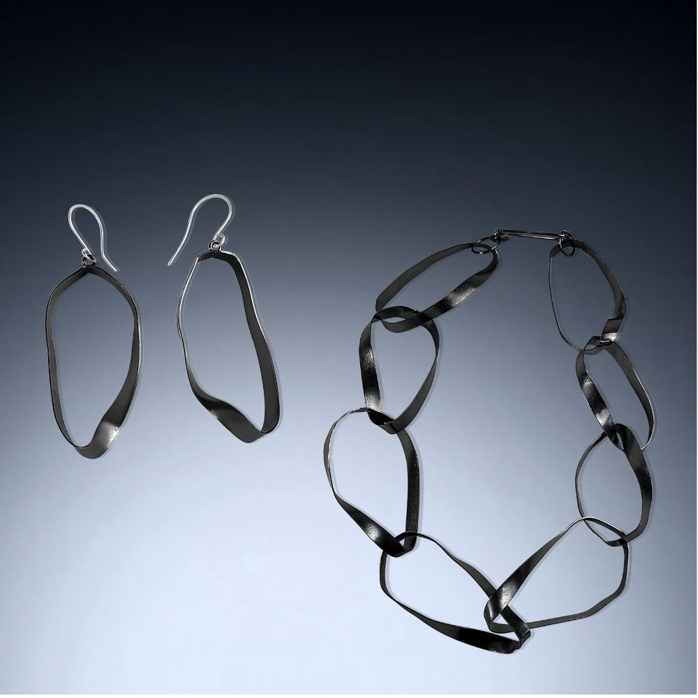 Mobius Statement Necklace and Earrings - Candace -Stribling- Jewelry