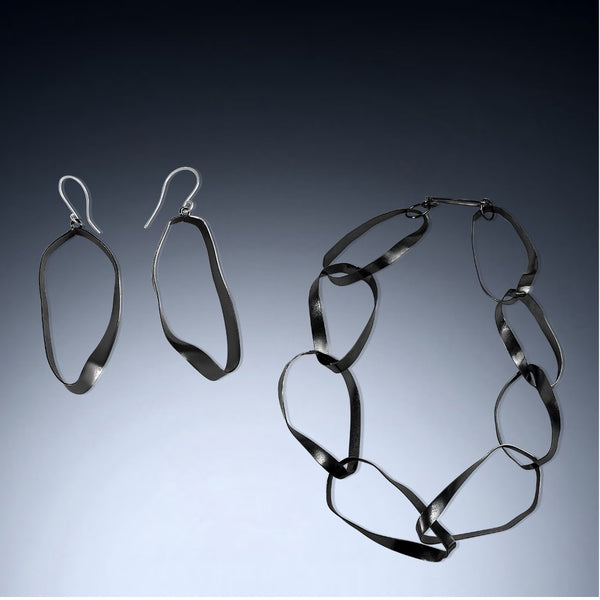 Mobius Statement Necklace and Earrings