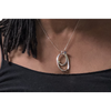 Sterling Silver Fibonacci Inspired Necklace, Iolite, Citrine, Peridot
