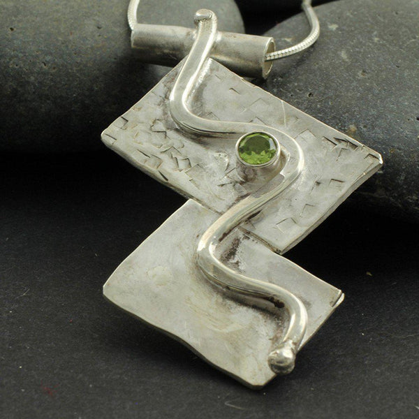 Abstract Sterling Silver Necklace - Candace Stribling Jewelry