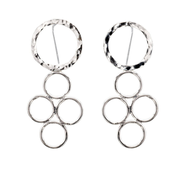 Sterling Silver Open Circle Dangle Earrings - Candace -Stribling- Jewelry