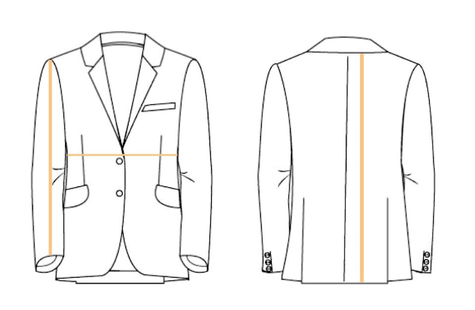 Blazers and Jackets where to measure