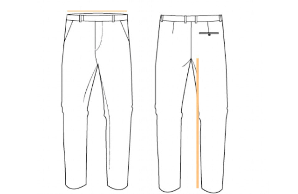 Trousers and pants where to measure for men by skyrta size guides
