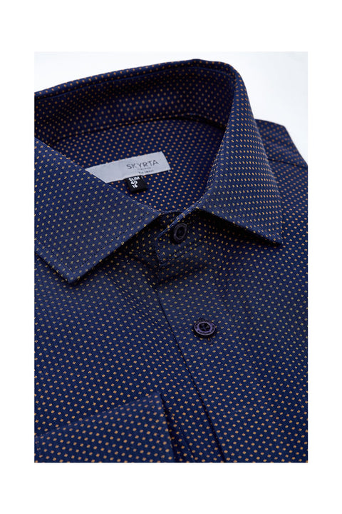 Aarpo filament mens jacquard shirt slim size colour deep purple