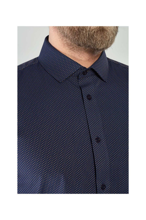 Aarpo filament mens jacquard shirt in cotton