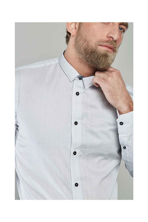 Chann-white-shirt-for-men-evening-shirts printed mens wear
