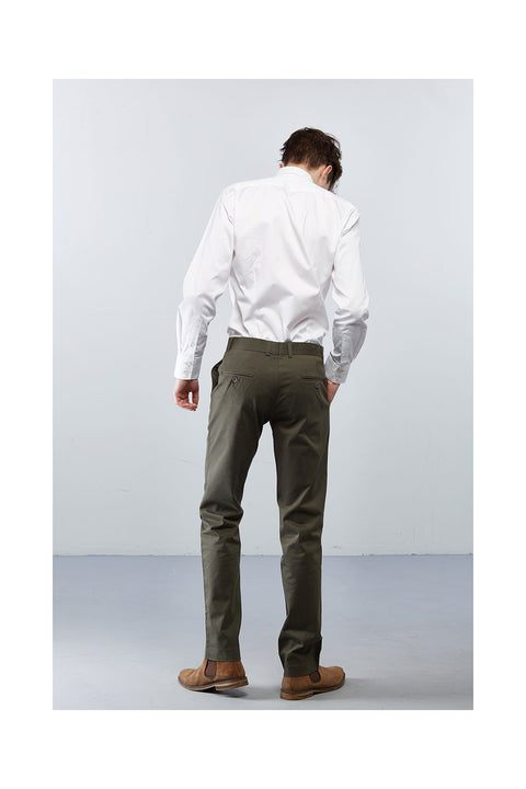 Fabrogos-Olive-green-trousers-in cotton stretch