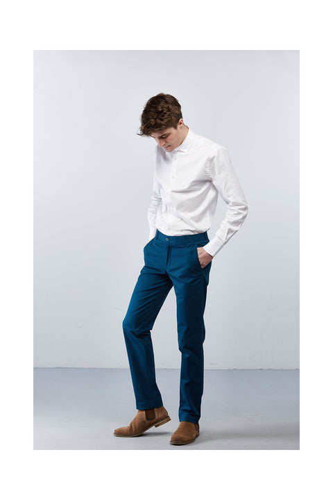 Fabrogos-teal-trousers-slim-fits-for-men-size-30 comfort trousers