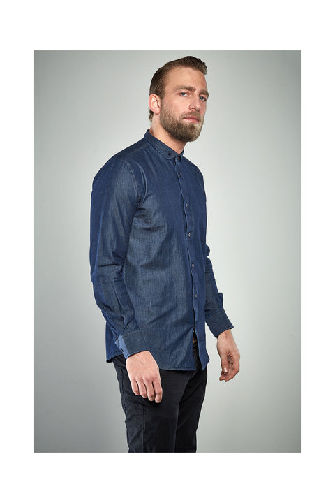 Fribbi-mens-navy-blue-denim-shirt