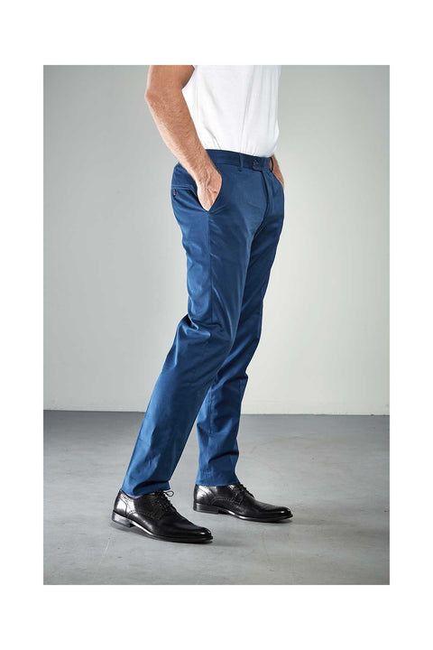 Gurgen Indigo blue trousers in slim fits in stretch