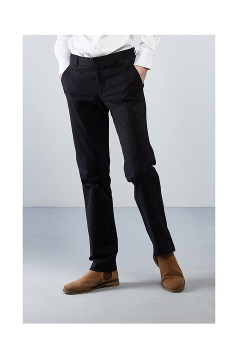 Matorido midnight black trousers-Black cotton trousers for men-Striaght fit pants