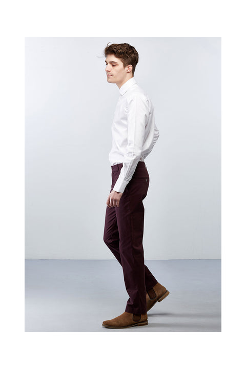 Matorida-burgundy-cotton-trousers-slim-fit