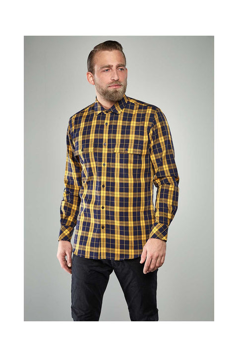 Reynir-Checkered-yellow-shirt-size-41-Icelandic-shirts size 41