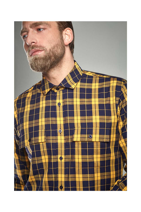 Reynir-Checkered-yellow-shirt-size-41-Icelandic-shirts