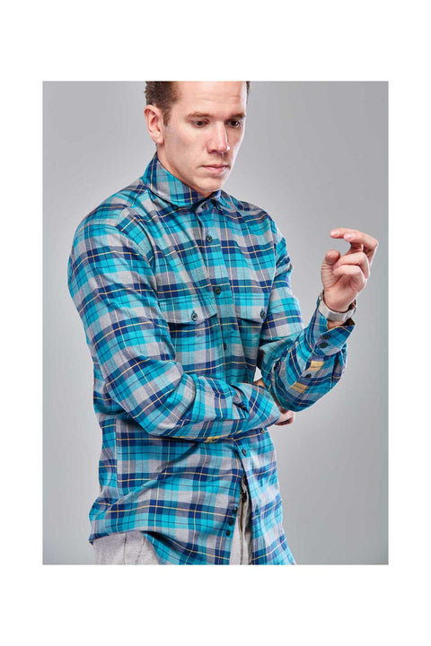 Reynir-Fannel-mens-shirt-Shirts-in-Iceland-Turqouise-mens-shirt-Checkered-fannel-shirt-size-38-Casual-autumn-mens-shirt-Super-soft-fannel