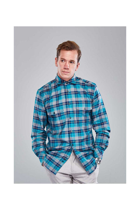 Reynir-Fannel-mens-shirt-Shirts-in-Iceland-Turqouise-mens-shirt-Checkered-fannel-shirt-size-38-Casual-autumn-mens-shirt-Super-soft-fannel-shirts