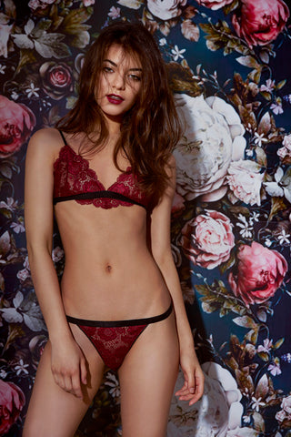 ROSE LINGERIE SET