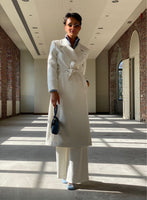Trench long white #90012