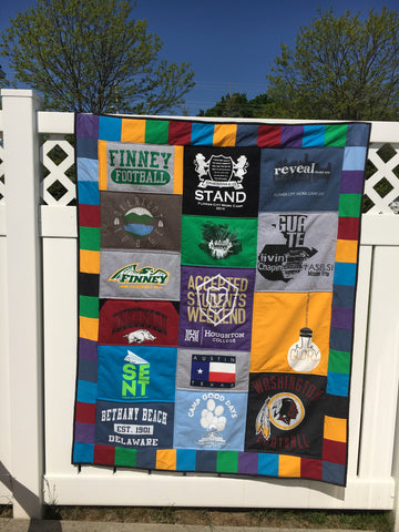 tshirt quilt with blocking