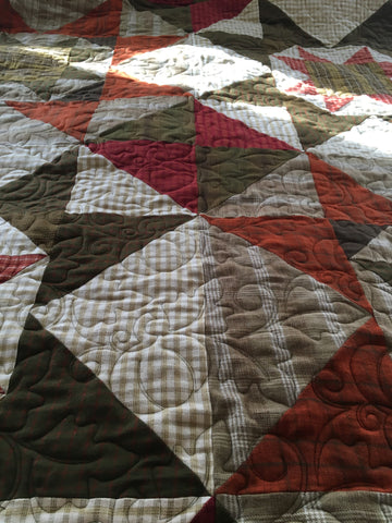 long arm quilted king flannel quilt