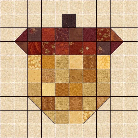 Acorn Quilt Block Pattern Download
