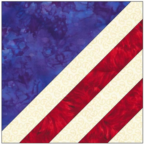 American Flag Quilt Block Pattern