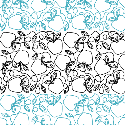Apple Meander Quilt Design