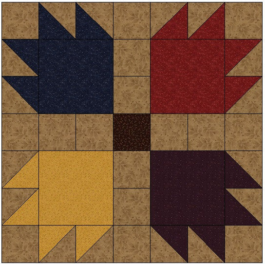 Bear Paw Quilt Block Pattern Download