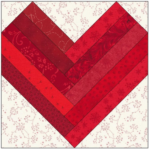 Star Center Log Cabin Quilt Block Pattern Download The
