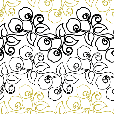 Cherry Swirls Quilt Design