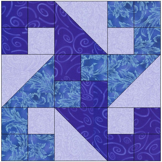 Crashing Waves Quilt Block Pattern Download