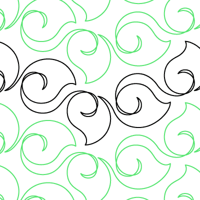 Curly Leaves Quilt Design