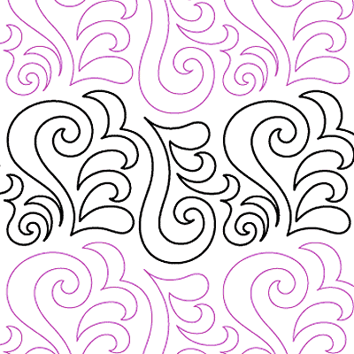 Curly Q Quilt Design