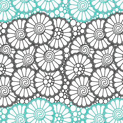 Daisy Stipple Quilt Design