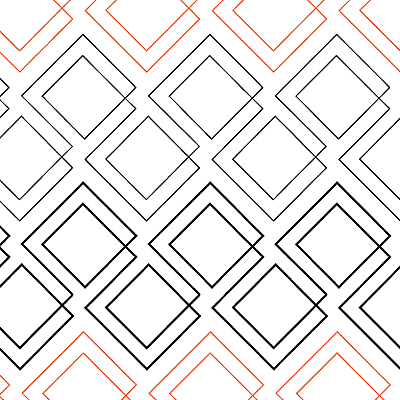 Diagonal Plaid Quilt Design