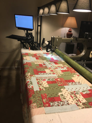 Long Arm Quilting Service includes Batting  - Edge to Edge - You pick return date