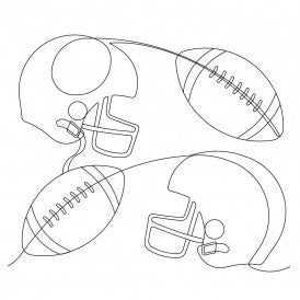 Football and Helmets Quilt Design