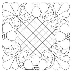 Garland Lattice Quilt Design