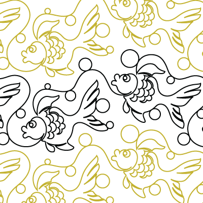 Goldfish Quilt Design