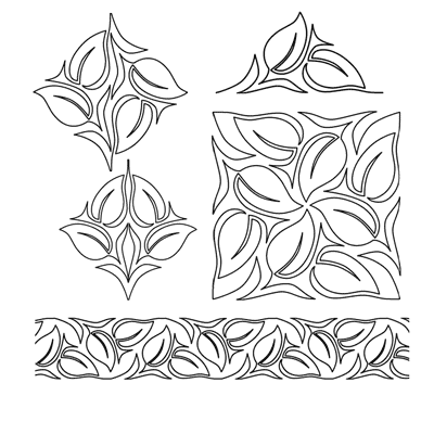 Green Leaf Quilt Design