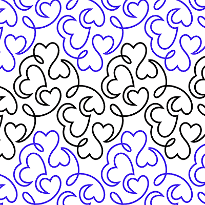 Hearts A Whirl Quilt Design