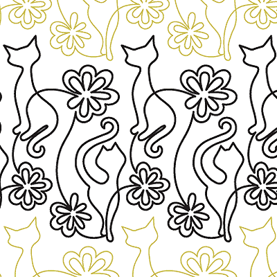 Hip Kitties Quilt Design