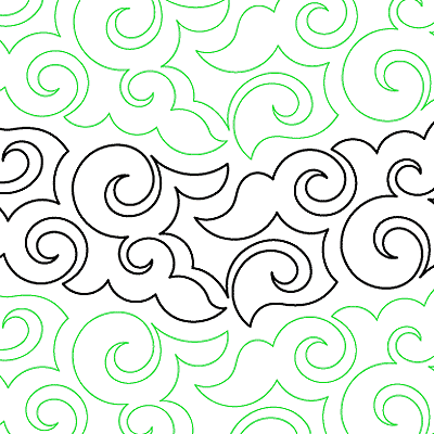 Japanese Clouds Quilt Design