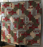 "Log Cabin Throw Quilt - 60"" x 60"""